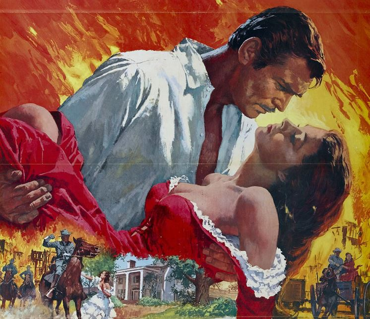 war time romances in film header gone with the wind