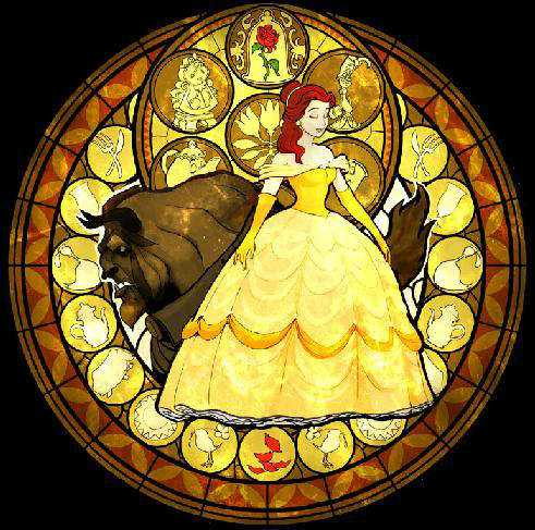 Belle and Beast in circle