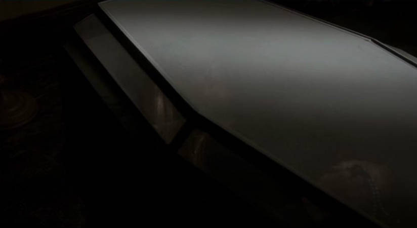Freya glass coffin
