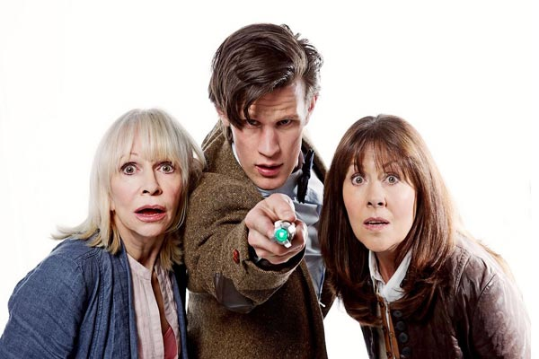 Jo, the 11th Doctor, and Sarah Jane in The Saraj Jane Adventures