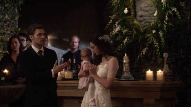 Klaus at wedding with Hope