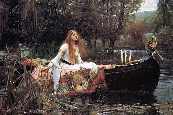 THE LADY OF SHALLOT BY JOHN WILLIAM WATERHOUSE, 1888