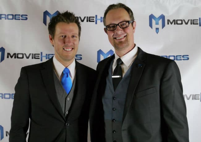 """Keith Walker (L) and Matt Sconce (R) developed a Netflix type subscription plan to help save their hometown's movie theater """"The Met Cinema."""""""