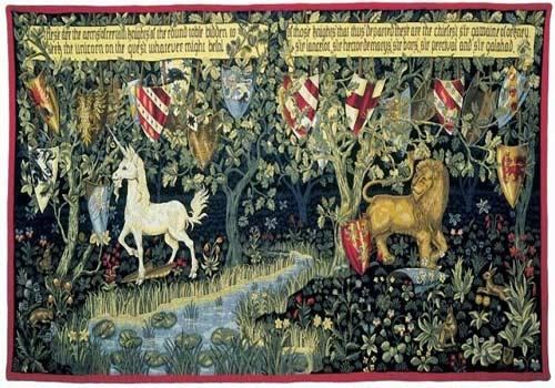 William Morris Tapestry: Chevaliers de la Table Ronde