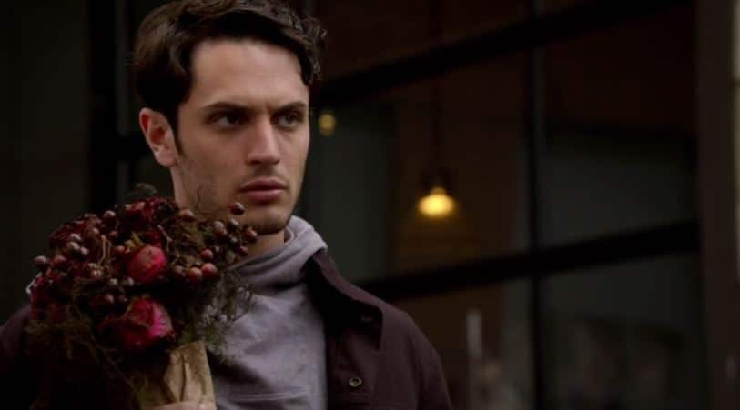 Aiden and flowers