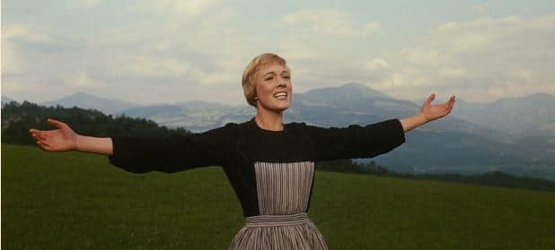 Julie Andrews sound of music hill