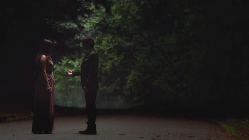 Damon and Elena dance hand