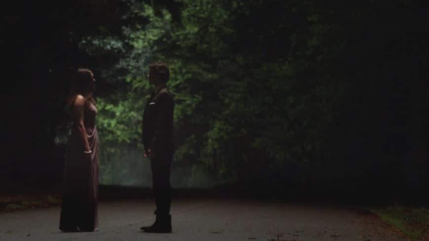 Damon and Elena stare