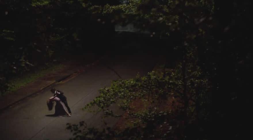 Damon dips Elena