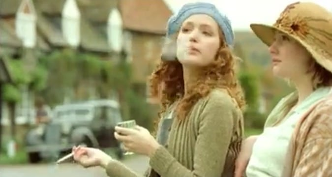Rose Byrne and Romola Garai in I Capture the Castle: Films Featuring Writers List