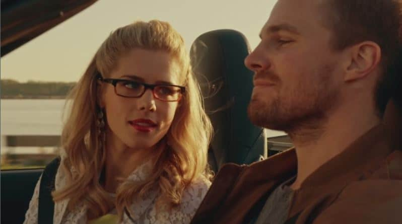 Oliver and Felicity car