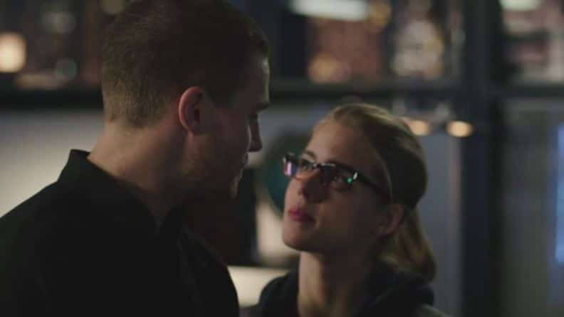 Oliver and Felicity come with him
