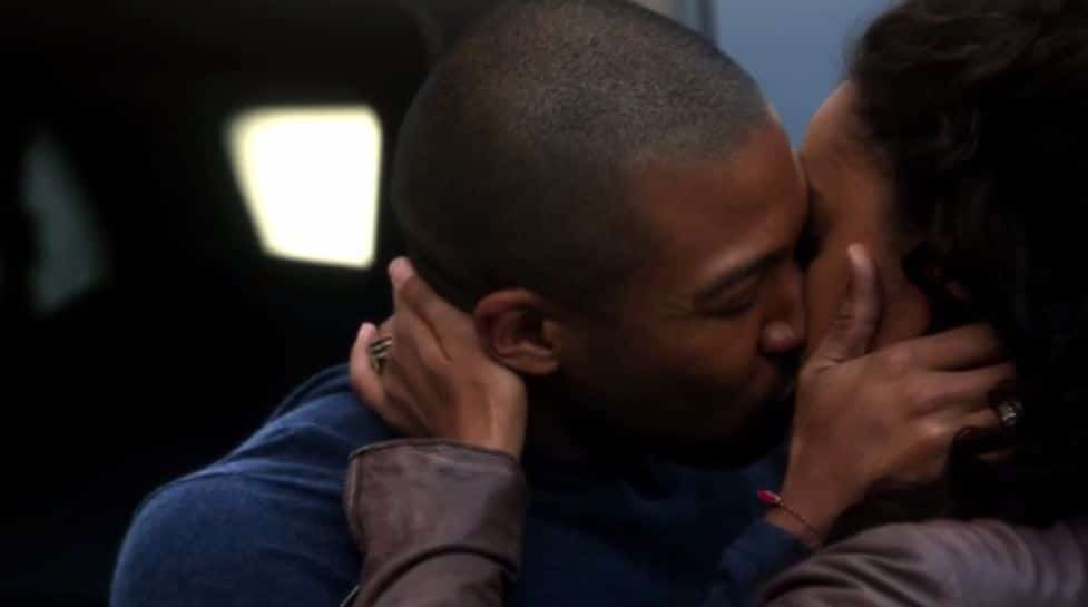 Rebekah and Marcel kiss