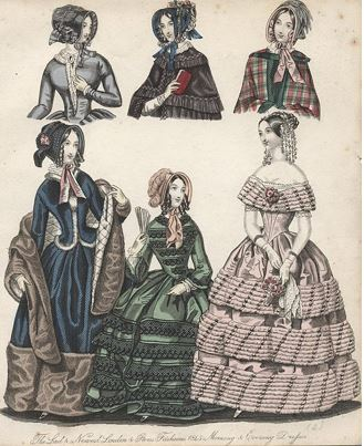 1845 London fashion (Image courtesy of ancestryimages.com)