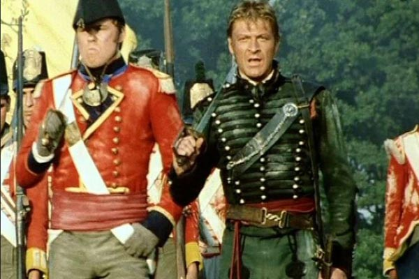 Sharpe (Sean Bean) from Sharpe's Waterloo. Photo: Carlton TV
