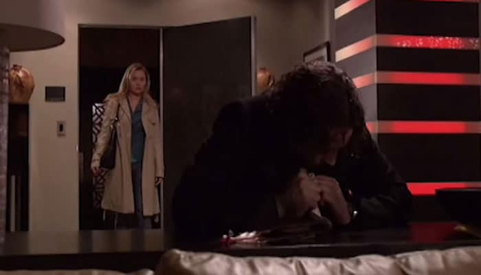 Beth walks in on vamped out Mick Photo: CBS