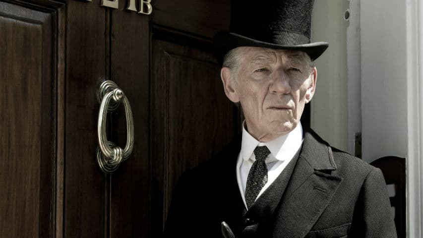 Ian McKellan as Mr Holmes.