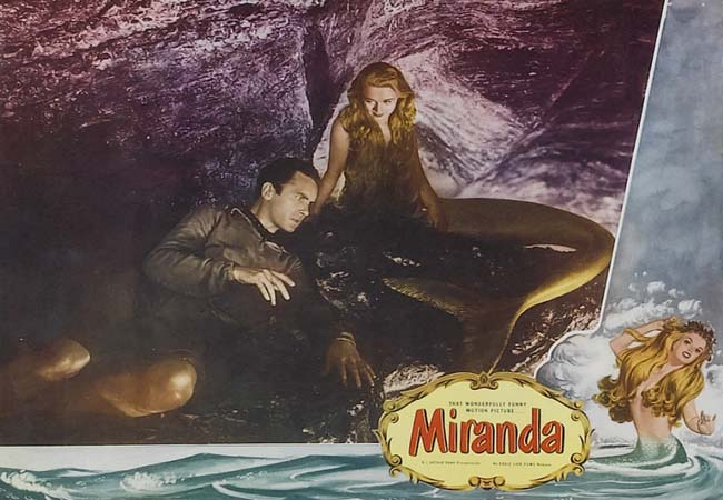 Miranda (1948 film) movie scenes Mr Peabody and the Mermaid 1948