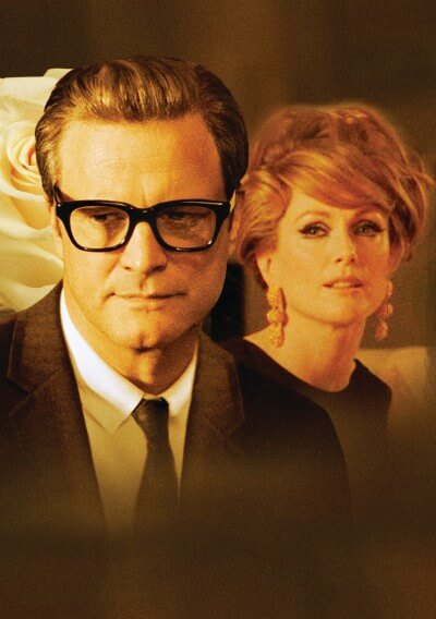 A Single Man Poster with Colin Firth and Julianne Moore