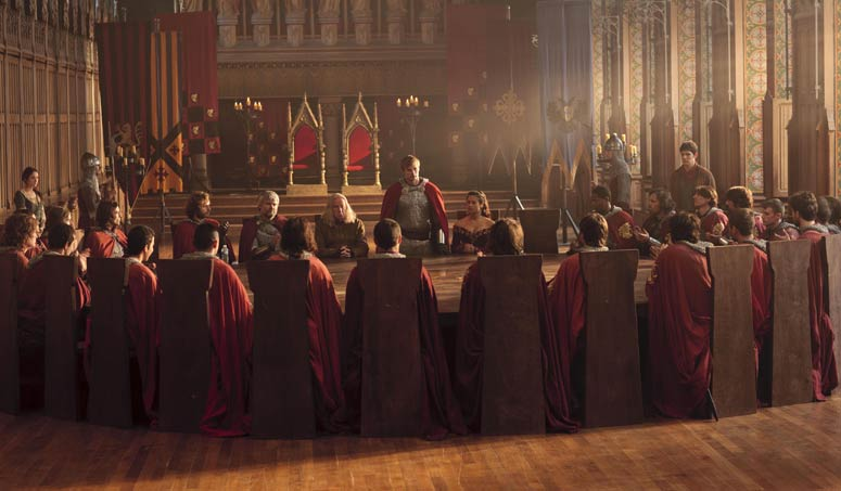 """The Round Table in """"Merlin"""" Photo: BBC"""
