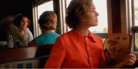 Alice Whalen on the train with her son. What secrets does she hold?