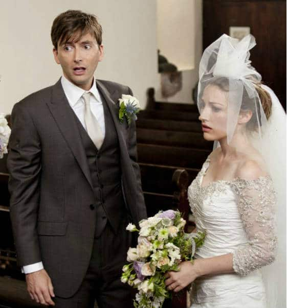 David Tennant and Kelly Macdonald star in the romantic comedy The Decoy Bride. Photo: IFC films