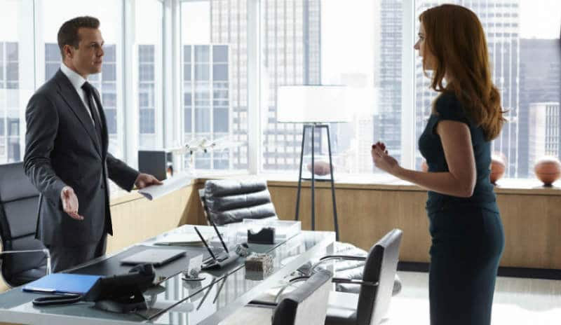 Harvey and Donna on Suits