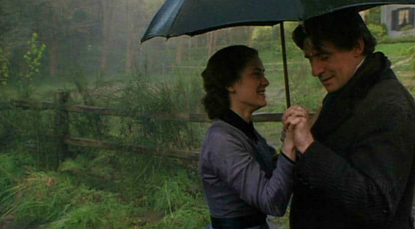 Winona Ryder and Gabriel Byrne as Jo March and Friedrich Bhaer, in Little Women 1994. Photo: Columbia Pictures.