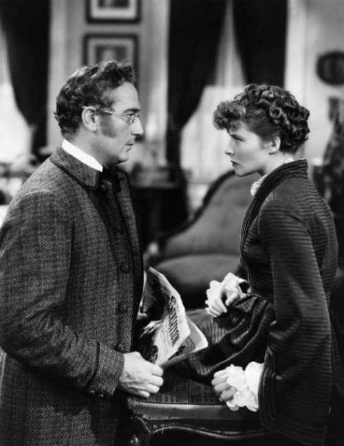 Paul Lukas and Katharine Hepburn as Prof. Bhaer and Jo in Little Women 1933. Photo: RKO Radio Pictures.