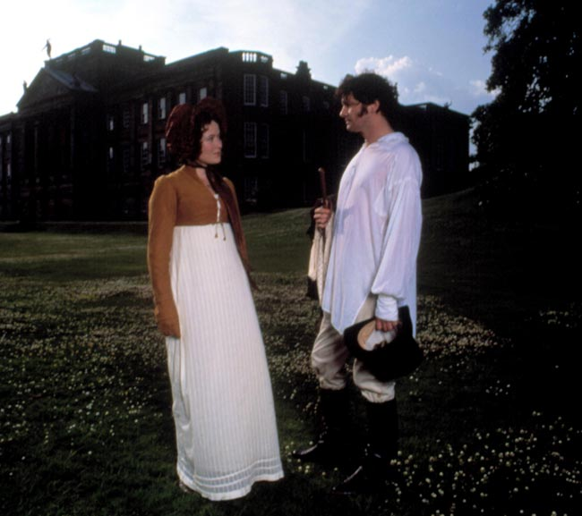 Elizabeth meets up with Mr. Darcy at Pemberley.