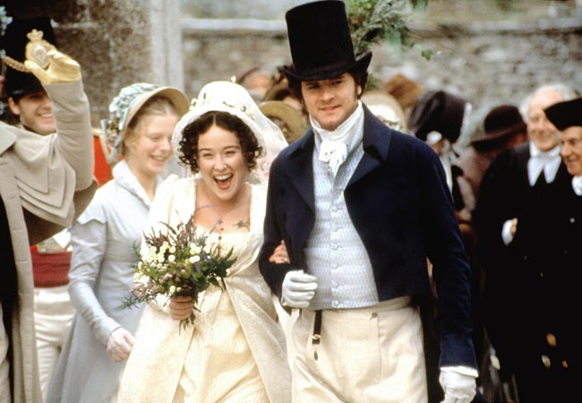 Elizabeth Bennet and Mr. Darcy in Pride and Prejudice (1995)