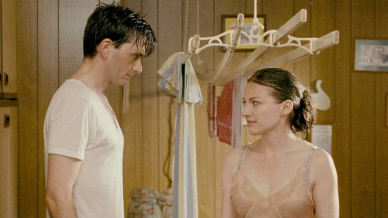 A romantic scene in The Decoy Bride. Photo: IFC Films.