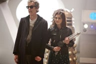 "Clara and The Doctor in ""The Witch's Familiar"""