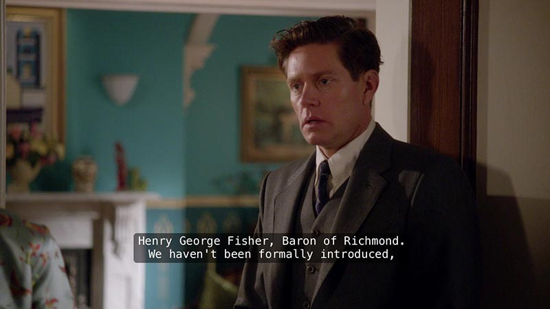 The jealousy is put to rest for now when he finds out the man is Miss Fisher's father, and we all breathed again.