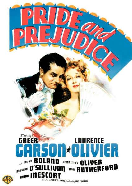 1940 Pride and Prejudice DVD Cover