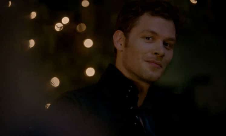 """Klaus smiles when Camille enters in """"You Hung the Moon."""" Photo: CW."""