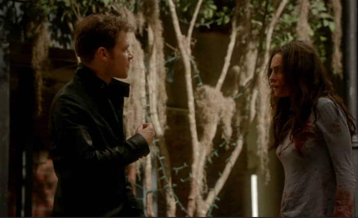 Klaus and Hayley in a tense scene. Photo: CW.