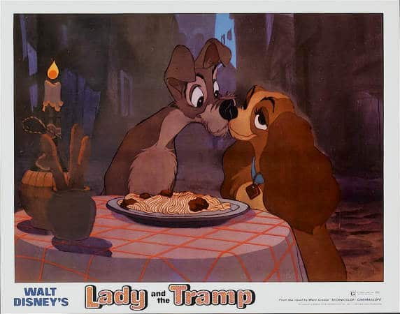 lady and the tramp kiss