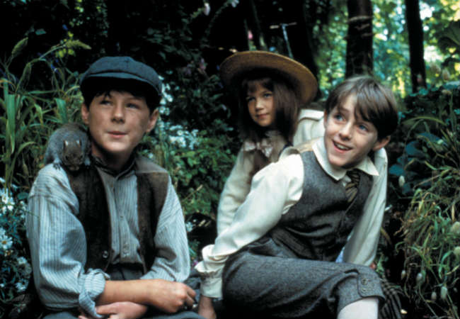 Dickon, Mary and Colin in The Secret Garden.