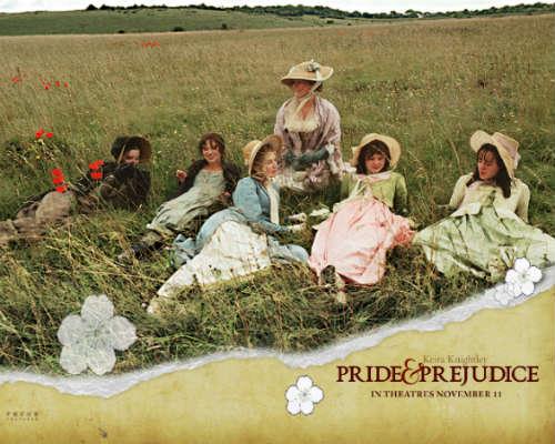 Bennet sisters pride and prejudice