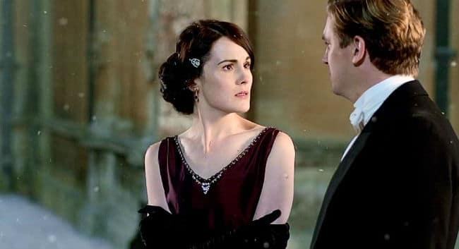 Downton Abbey Mary and Matthew Christmas