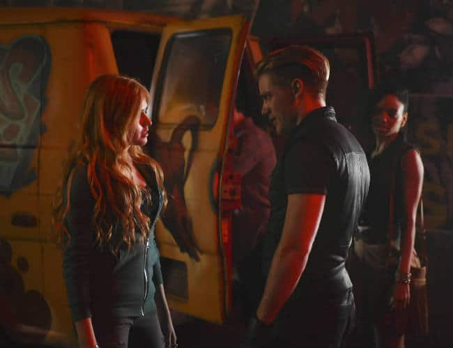 Clary and Jace meet for the first time.