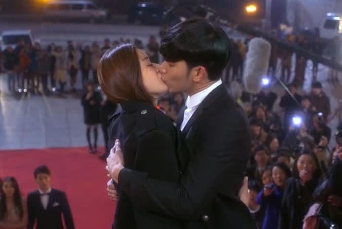 You From Another Star kiss; Korean Drama kisses