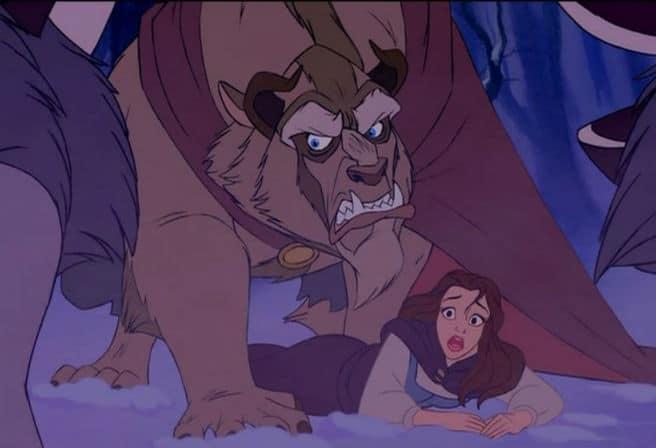 Beast Defends Belle Photo: Disney