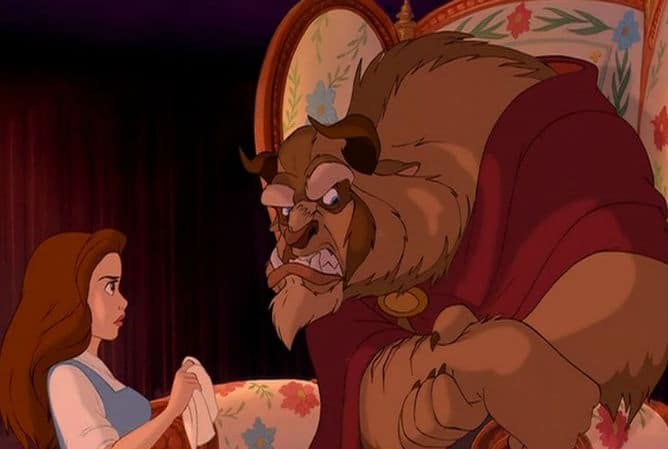 Belle and Beast Fight Photo: Disney