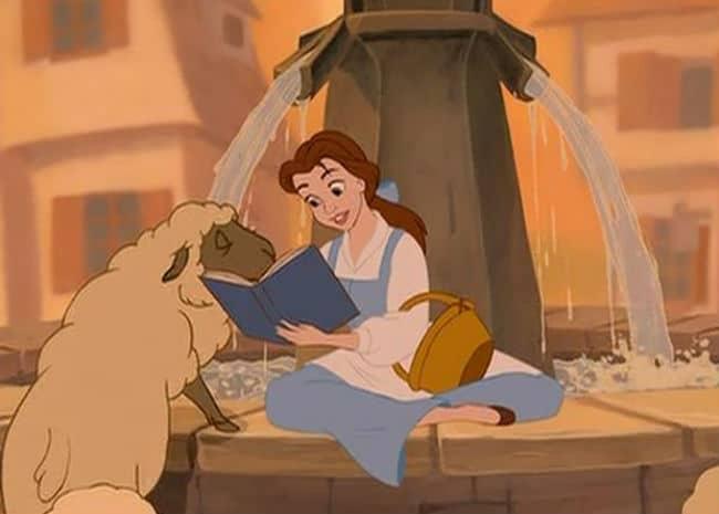 Belle Reads Photo: Disney