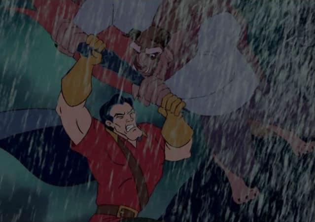 Gaston and Beast Fight Photo: Disney