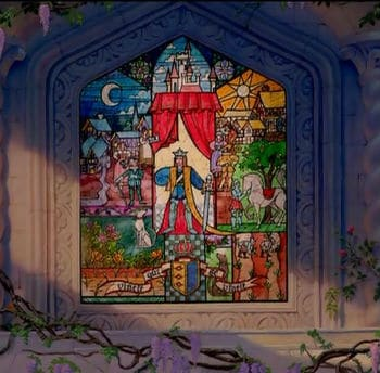 Opening In Stained Glass Photo: Disney