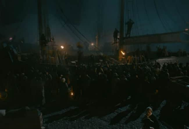The Boston Tea Party in Sons of Liberty