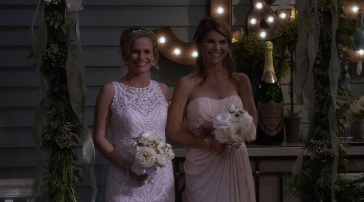 Becky-and-Kimmy-walk-down-the-aisle